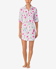 Printed Sleep Shirt Nightgown