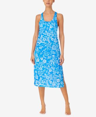 Printed Ballet-Length Nightgown