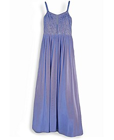 Juniors' Shirred Gown