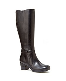 Chai Leather - Wide Calf Boots