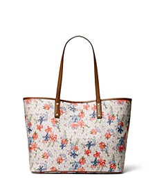Carter Large Signature Floral Tote