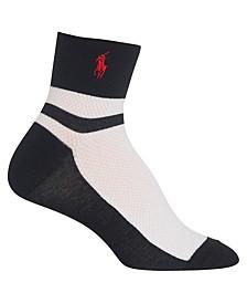 Women's Color Block Mesh Ankle Socks