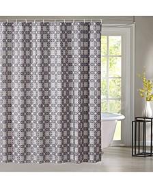 Mandala Lattice Shower Curtain with 12 Rings