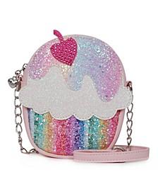 Big Girls Glitter Cupcake Crossbody