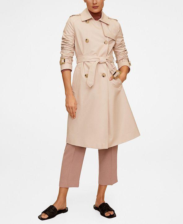 MANGO Classic Cotton Trench Coat