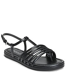 Women's Strappy Droplet Flat Sandal