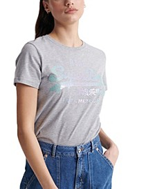 Vintage Inspired Logo Stitch Sequin T-Shirt