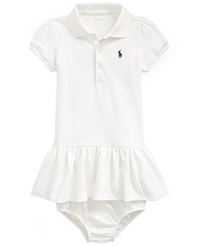 Baby Girls Cotton Flag Polo Dress & Bloomer