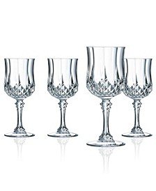 Cristal D'Arques Wine Glasses 5.5 oz 4 Piece Set