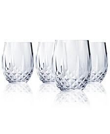 Cristal D'Arques Stemless Wine Glasses 10 oz 4 Piece Set