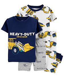 Toddler Boys 4-Pc. Heavy Duty Snoozer Cotton Pajamas Set