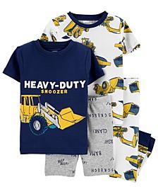 Toddler Boys 4-Pc. Heavy Duty Snoozer Cotton Pajamas Set