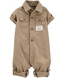 Baby Boys Cotton Khaki Jumpsuit