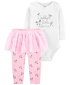 Baby Girls 2-Pc. Little Princess Bodysuit & Tutu Pants Set