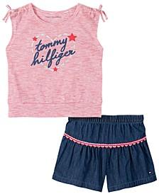 Baby Girls 2-Pc. Top & Shorts Set