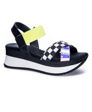 Getsome Check Print Women's Wedge Sport Sandal Women's Shoes