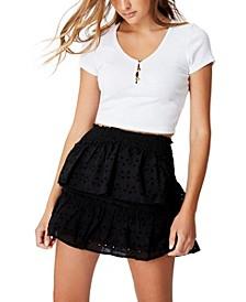 Ellie Broderie Mini Skirt