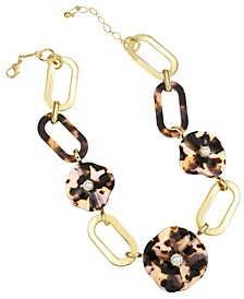 14K Gold-Plated Flower Collar Necklace