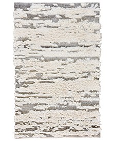 "Nomad 630 Ivory and Gray 3'6"" x 5'6"" Area Rug"