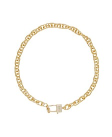 Throw Away the Key Gold - Tone Chain Necklace