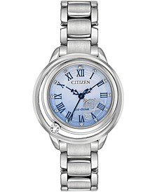 Citizen Eco-Drive Women's Cinderella Diamond-Accent Stainless Steel Bracelet Watch 33mm