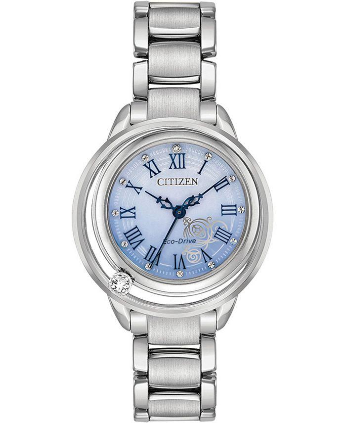 Citizen - Women's Cinderella Diamond-Accent Stainless Steel Bracelet Watch 33mm