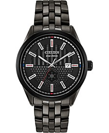Citizen Eco-Drive Men's Star Wars Darth Vader Black Stainless Steel Bracelet Watch 41mm