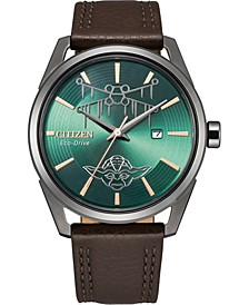 Eco-Drive Men's Star Wars Dagobah Black Leather Strap Watch 42mm, A Limited Edition
