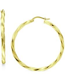 Medium Twist Hoop Earrings in 18k Gold-Plated Sterling Silver, Created for Macy's