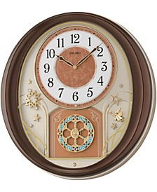 Melodies in Motion Wood-Tone Wall Clock