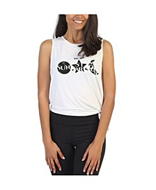 Stars and Moon Side Tie Studio Tank Top