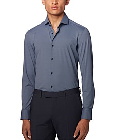 BOSS Men's Jason Dark Blue Shirt