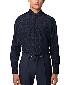 BOSS Men's Lukas Dark Blue Shirt