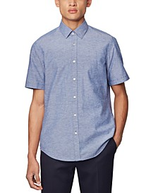BOSS Men's Luka_2 Dark Blue Shirt