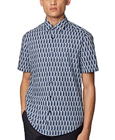 BOSS Men's Luka Dark Blue Shirt