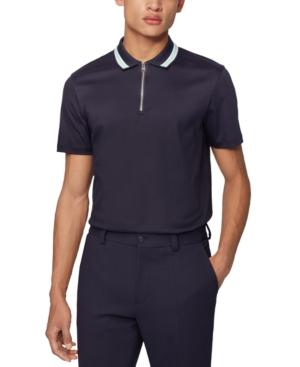 Boss Men's Paras 06 Dark Blue Polo Shirt
