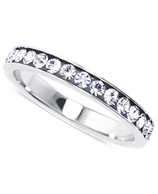 Crystal Eternity Stackable Band in Sterling Silver, Created for Macy's