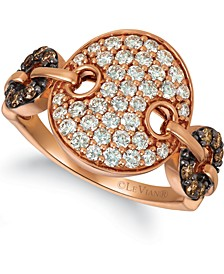 Nude Diamond (3/4 ct. t.w.) & Chocolate Diamond (1/5 ct. t.w.) Statement Ring in 14k Rose Gold