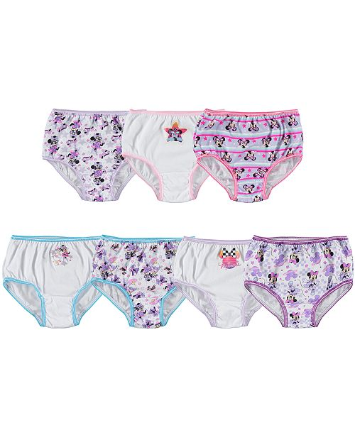 Disney Minnie Mouse Cotton Panties, 7-Pack, Toddler Girls