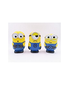 Medium Squishy toy Collectible Set 2 - 3 Pack Collectible Squishies Includes tom, Mel, and Bob.