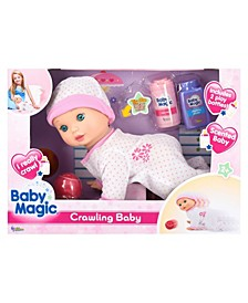 Crawling Baby Play Set with Toy Baby Doll Scented