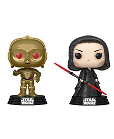Pop Star Wars Rise Of Skywalker Collectors Set - Dark Rey, C-3Po Red Eyes