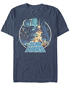 Men's Star Wars Group Victory Scene Retro Poster Short Sleeve T-shirt