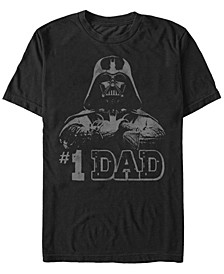 Men's Star Wars Vader 1 Dad Retro Father's Day Short Sleeve T-shirt
