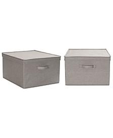 Household Essential Jumbo Fabric Storage Bins 2 Pack