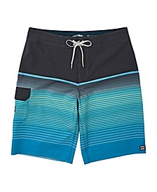 Toddler Boy All Day Stripe Pro Swim Trunk