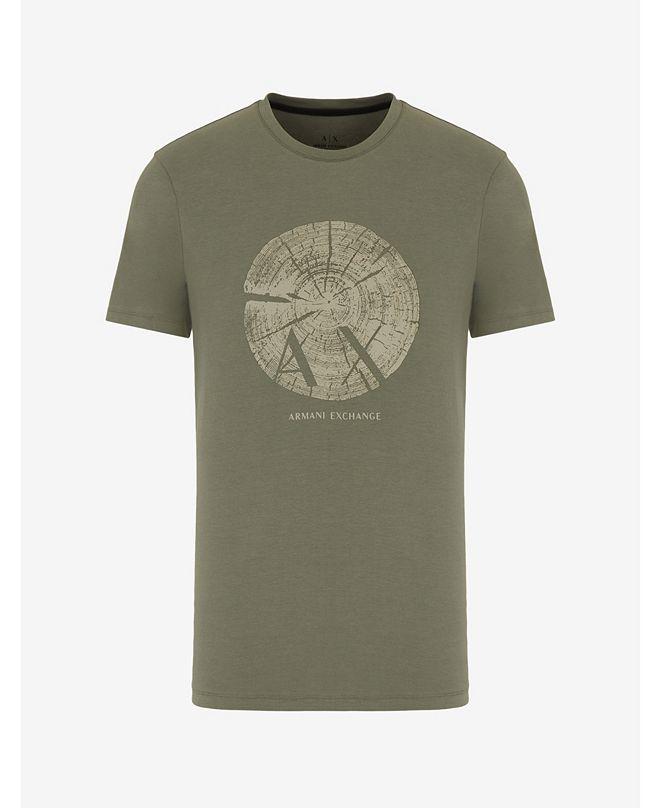 A|X Armani Exchange Men's AX Logo Tree Stump T-shirt