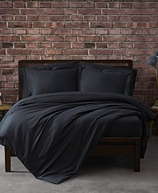 Solid Percale 3 Piece Duvet Set, King