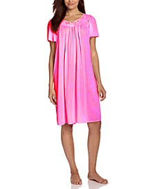 Short-Sleeve Embroidered Nightgown