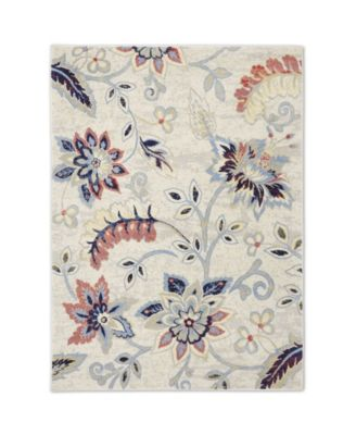 """Haven Hav13 Ivory and Navy 3'3"""" x 5'2"""" Area Rug"""